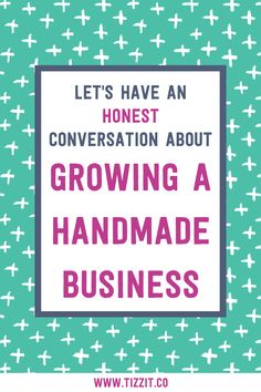 Let's have an honest conversation about growing a handmade business! I want to help you prepare yourself for this exciting part of the journey by going over what it REALLY looks like to grow your handmade shop. Let's dive in!
