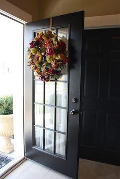 Model 440 Signet Fiberglass Front Entry Door Coal Black