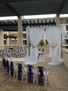 The ballroom terrace is a great place for your ceremony if inclement weather is looming! #DreamsRivieraCancun