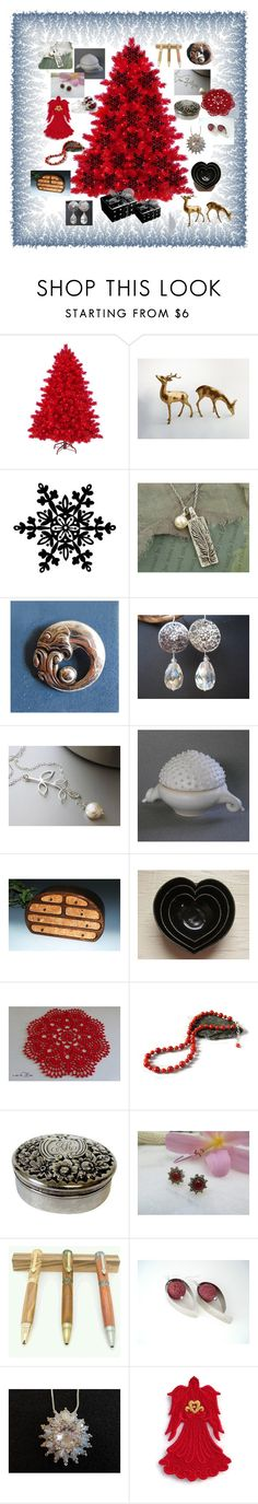 """""""Holiday Collage #12"""" by keepsakedesignbycmm on Polyvore featuring Georg Jensen, Gorham, vintage, Christmas, accessories, homedecor and smallshops"""
