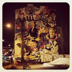 Wall art near Chopin Museum in Warsaw