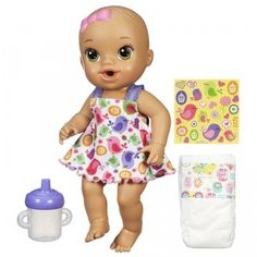 Baby Alive Sips 'n Cuddles is a baby doll that drinks and wets.