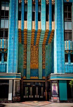 #ArtDeco   Entrance, Eastern Columbia Building, 849 S. Broadway, Los Angeles. Designed by Claud Beelman, 1930.