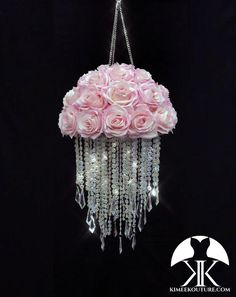 PINK ROSE FLORAL CRYSTAL CHANDELIER. FLORAL NURSERY MOBILE. WEDDING ROSE CRYSTAL CHANDELIER. Altar Chandelier. Nursery Decor. Baby Shower Gift. Floral Nursery Decor. Floral Mobile. Nursery Mobile. Crib Mobile. Flower Baby Mobile. Girls Mobile. Pink Mobile. Rose Mobile. PICTURED WITH PINK ROSES Flower Ball Centerpiece, Red Centerpieces, Aqua Wedding, Rose Wedding, Luxury Wedding, Floral Nursery, Nursery Decor, Mobiles, Pink Mobile