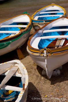 Boats on the beach in Capri, Italy. © Brian Jannsen Photography