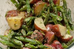 MITCH IN THE KITCHEN — green bean and potato salad with mustard and dill