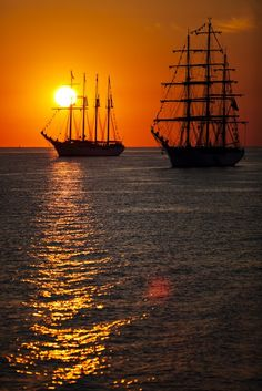 Coast Guard barque Eagle at sunrise ~ Chesapeake Bay June 8, 2012 ~ OpSail 2012 Virginia Parade of Sail. (Sean Proctor | The Virginian-Pilot)