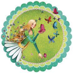 GOLLONG woman with butterflies - Mila Marquis postcard round Lulu Shop, Decoupage, Art Carte, Bottle Cap Images, Bottle Caps, Pretty Images, Marquise, Mandala Pattern, Cute Illustration