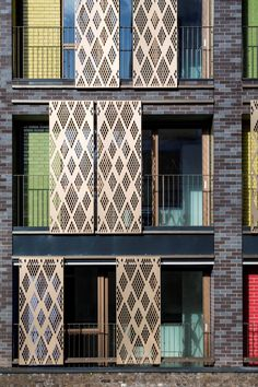 Child Graddon Lewis completes Westminster's largest affordable housing scheme Minimalist Architecture, Modern Architecture House, Concept Architecture, Facade Architecture, Sustainable Architecture, Modern Buildings, Modern House Design, Facade Design, Exterior Design