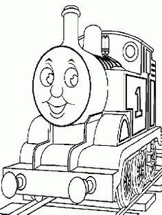 obr. 630 - omalovánky Thomas parní lokomotiva
