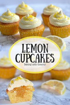 Lemon Cupcakes - Baking with Granny