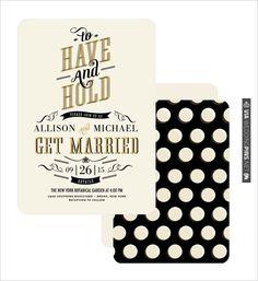 retro wedding invite | VIA #WEDDINGPINS.NET