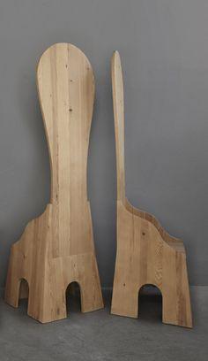 "Mario Ceroli, Chairs from ""Mobili nella Valle"" Series, 1970, Italy.  #erastudioapartmentgallery #erastudio #marioceroli #chairs #uniquepiece #dechirico #madeinitaly #design #designgallery #italiandesign #historicaldesign #collectibledesign #seventies #detaiils #interior #mobilinellavalle #series #pinewood #poltronova #signature"