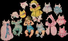 Dollhouses, Old And New, Vintage Toys, Paper Dolls, Childhood Memories, Old School, Minnie Mouse, Disney Characters, Fictional Characters