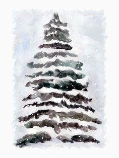 tree in the snow (card)