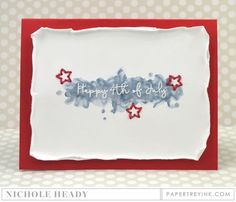 Happy 4th of July Card by Nichole Heady for Papertrey Ink (May 2016)