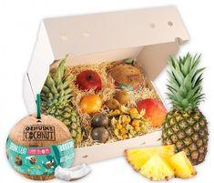Exotische Früchte in einer Obstbox verschenken   Hansen Obst Ostern Party, Mango, Partys, Pineapple, Fruit, Kiwi, Food, Products, Exotic Fruit