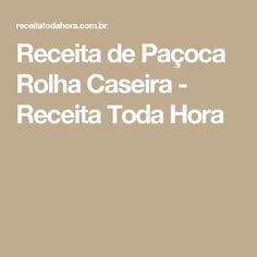 Receita de Paçoca Rolha Caseira - Receita Toda Hora