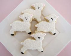 cute lamb cookies