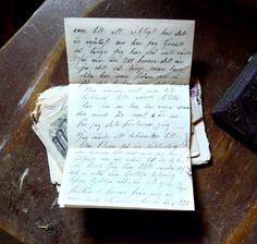 handwritten letters in Swedish