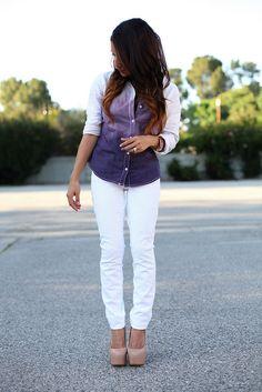 love this look! --DIY: Dip Dye Ombre Shirt