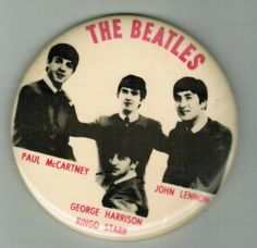 The Beatles Pin Button Paul McCartney George Harrison John Lennon Ringo Starr
