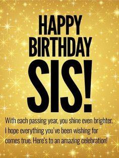 Happy Birthday Sister Card Happy Birthday Wishes Happy Birthday
