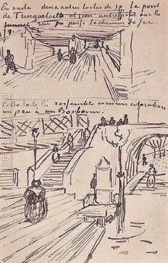The Viaduct and the Trinquetaille Bridge Vincent Van Gogh Reproduction | 1st Art Gallery