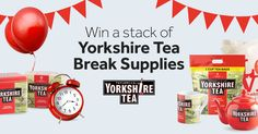 Pop the kettle on for a proper #YorkshireTeaBreak every Friday at 3.40pm this Summer for the chance to WIN a stack of Yorkshire Tea goodies!