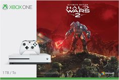 Microsoft - Xbox One S 1TB Halo Wars 2 Console Bundle with 4K Ultra HD Blu-ray™ - White