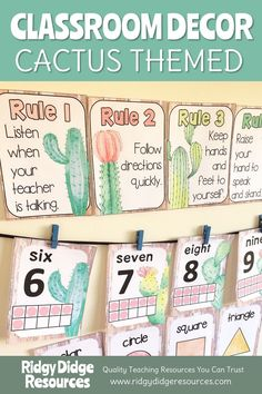 Looking to setup your classroom displays the easy way this year With over 200 pages of printable fun this Cactus Classroom Decor bundle featuring beautiful watercolour ca. Elementary Classroom Themes, Jungle Theme Classroom, Kindergarten Classroom Decor, Classroom Decor Themes, 2nd Grade Classroom, Classroom Setup, Classroom Design, Classroom Displays, Teaching Kindergarten