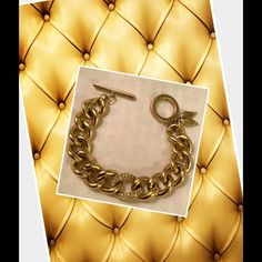 Victoria's Secret Bracelet Gold tone with clear stones. Victoria's secret. Normal signs of wear on the round clasp part. Otherwise beautiful condition! Victoria's Secret Jewelry Bracelets