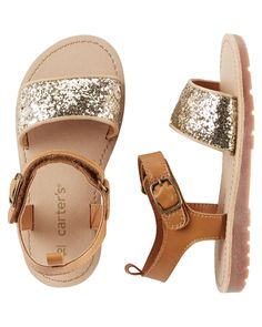 Toddler Girl Carter's Glitter Strap Sandals from Carters.com. Shop clothing & accessories from a trusted name in kids, toddlers, and baby clothes.