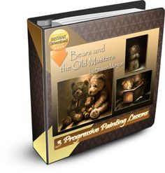 Bears and the Old Masters e-book - Sharon Morgan Online Painting Classes, Painting Fur, Learn To Paint, Learn Painting, Painted Books, Painting Lessons, Elements Of Art, Old Master, Painting Patterns