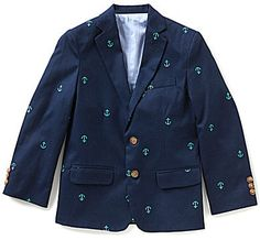 Class Club Big Boys 8-20 Schifli Anchor-Embroidered Blazer Teen Guy, Big Boys, Anchor, Blazers, Suit Jacket, Club, Guys, Stylish, Jackets