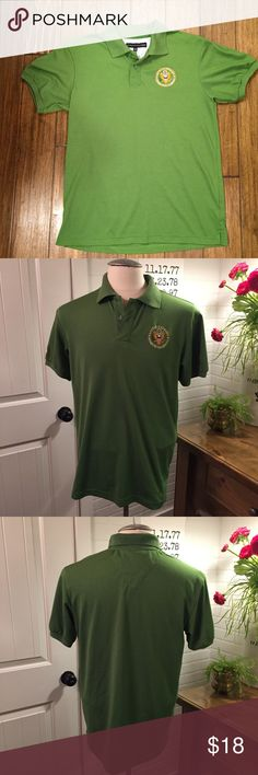 """☘️Tommy Hilfiger American Embassy Slim Fit Polo☘️ Tommy Hilfiger Polo Shirt with American Embassy Embroidered Logo  Style - Slim Fit  Size - XXL  Measurements: Pit to Pit - 21.5"""" Collar to Bottom - 25.5""""  Color - Green  Great Pre-Owned Condition. Minimal Wear or Use. Tommy Hilfiger Tops"""