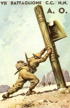 "Italian  WW2 ""7th Batallion"" North African front"