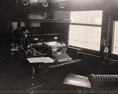 Old Typewriter In American Red Cross Sanitary Railroad Car In 1917