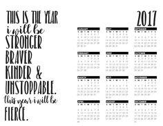 2017 Year-at-a-Glance Calendar