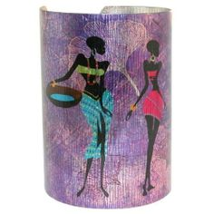 """3.5"""" High Laser Printed Tribal Women Cuff In Lavender . $14.99. Save 67%!"""
