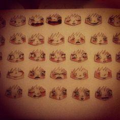 faces #stopmotion #papercut