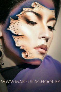 Scroll on face Exotisches Makeup, Scary Makeup, Costume Makeup, Maquillage Halloween, Halloween Makeup, Extreme Makeup, Fantasy Make Up, Character Makeup, Theatrical Makeup