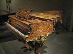antique grand piano