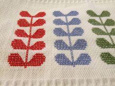 Orla Kiely inspired cross stitch