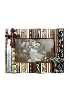 4x6 Photo framed with cross embellishments.    4x6 Photo Frame by Lancaster House. Home & Gifts - Home Decor - Frames Louisiana