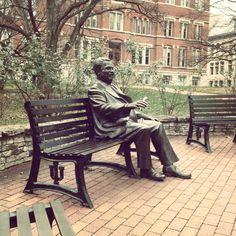 Herman B. Wells Statue. Indiana University. Bloomington, Indiana