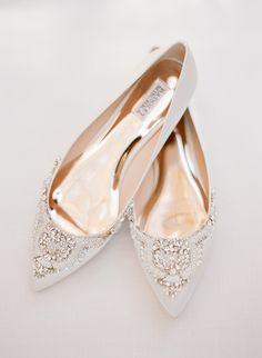 Embellished bridal shoes