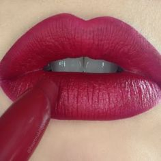 Get that deep red hue on your lips with the must have lipstick shade used in this look. Check it out!