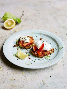 Jamie's Potato Cakes With Smoked Salmon