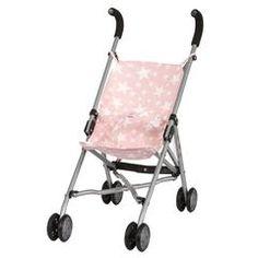 Barrutoys dukkeklapvogn, pink stars